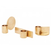 Kerzenhalter-Set FUNDAMENT / brass