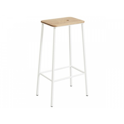 ADAM Stool / Oak & Matt White