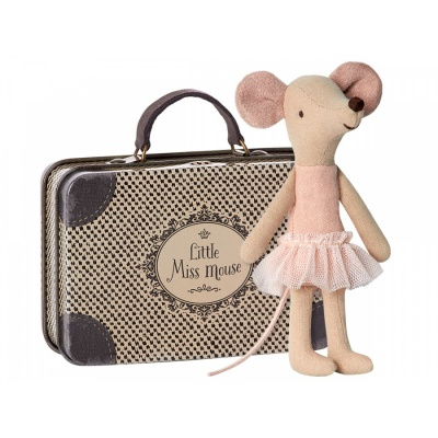 Ballerina Mouse in Suitcase