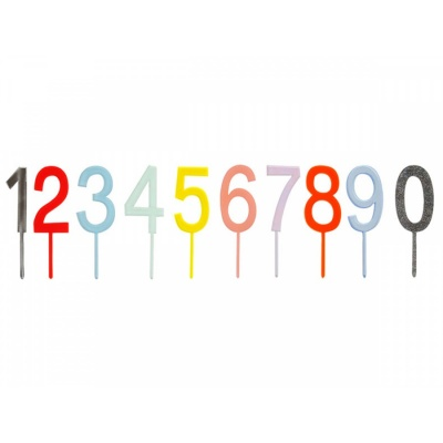 Cake Topper Multicolored Number