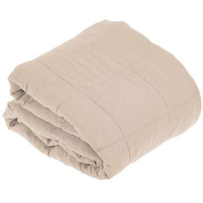Cotton Blanket Beige / 240 x 260 cm