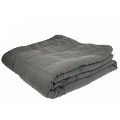 Cotton Blanket Dark Grey / 240 x 260 cm