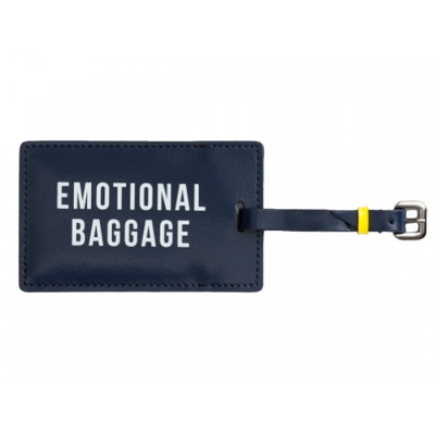 Emotional Baggage Tag / navy