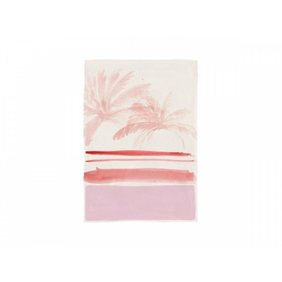 Grußkarte Pink Palm Leaves