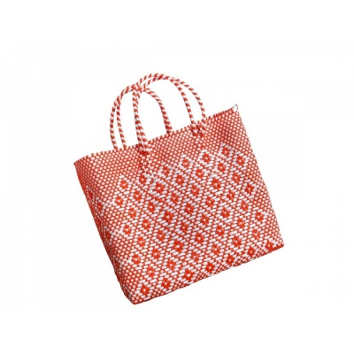 Handtasche Oaxaca S / orange-white
