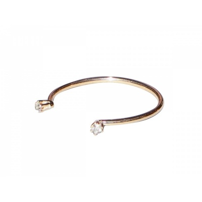 Ring Wire Solitaire Twin Mini / rosegold