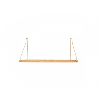 Shelf D20 W40 / Oak & Gold