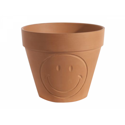 Topf Terracotta Smiley L