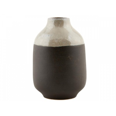 Vase Earth / grau