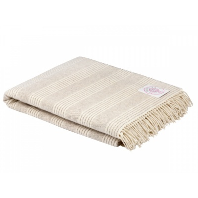 Wolldecke ALPACA NATURAL STRIPE
