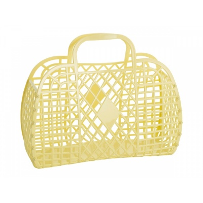 Yellow Retro Basket / L