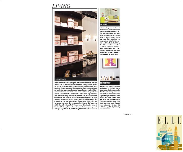 Minimarkt in der ELLE CITY Ausgabe 3 2014