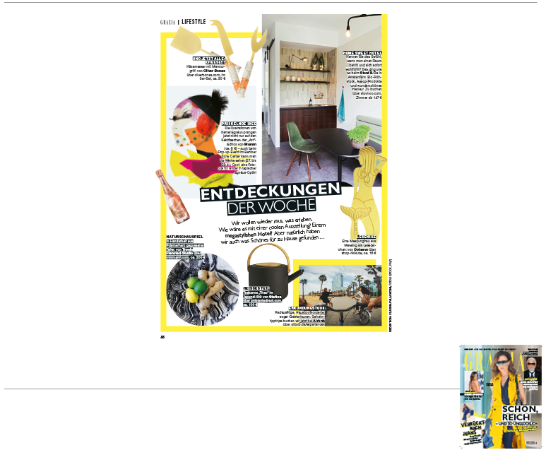 Minimarkt in der GRAZIA Ausgabe 18 2018