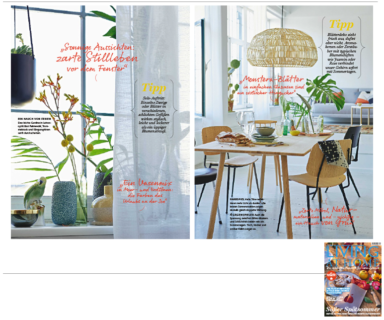 Minimarkt in der LIVING AT HOME Ausgabe 09 2016