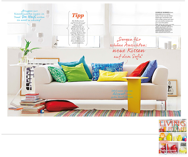 Minimarkt in der LIVING AT HOME Ausgabe 7 2015