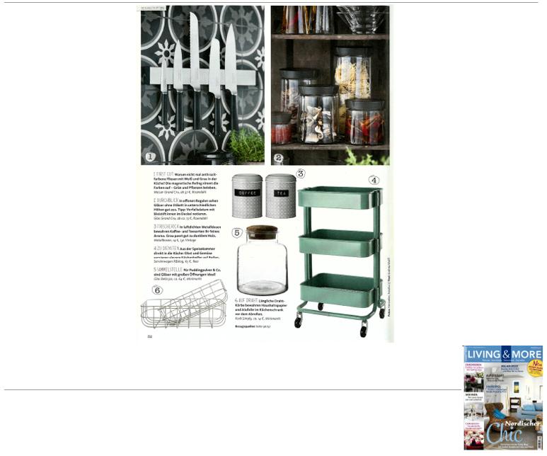 Minimarkt in der LIVING AND MORE Ausgabe 8 2014