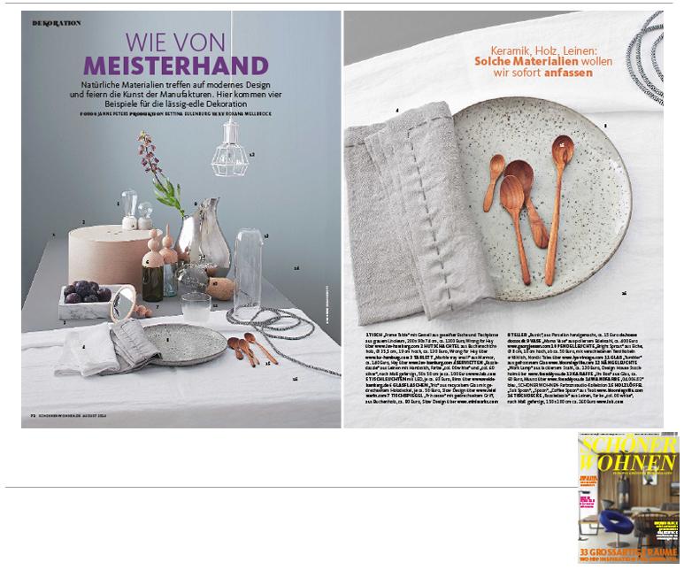 Minimarkt in der SCHÖNER WOHNEN Ausgabe 8 2014
