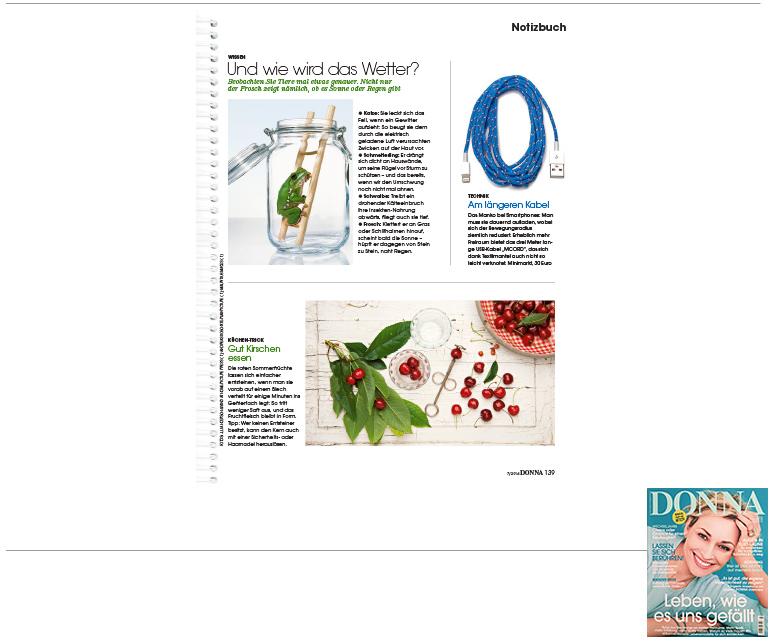 Minimarkt in der DONNA Ausgabe 7 2014
