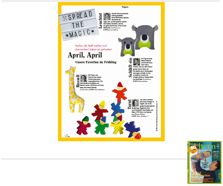Minimarkt in der ELTERN Ausgabe 4 2016