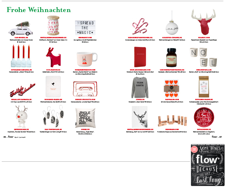 Minimarkt in der FLOW Ausgabe Winter 2015