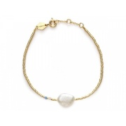 Baroque Pearl Bracelet / Cloud Blue