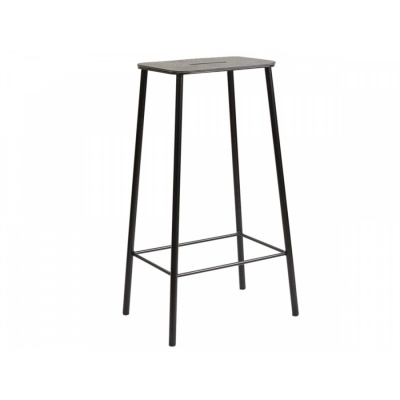 ADAM Stool / Black Leather & Black
