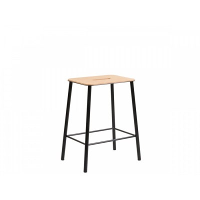 ADAM Stool / Leather & Black