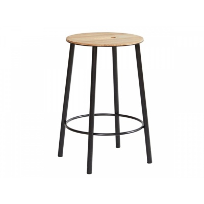 ADAM Stool R031 / Oak & Black