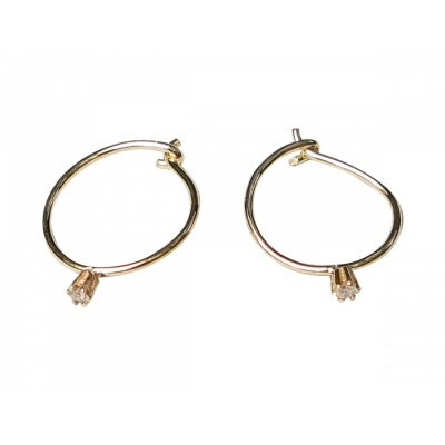 Earrings Wire Solitaire Mini / rosegold