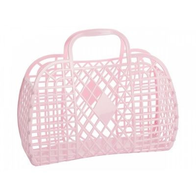 Pink Retro Basket / L