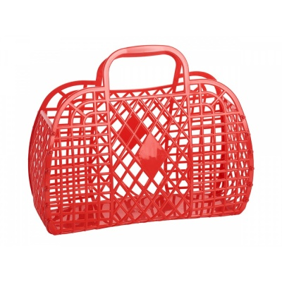 Red Retro Basket / L
