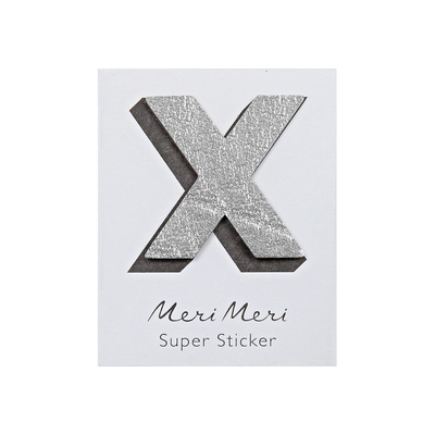 Leather Alphabet Sticker X