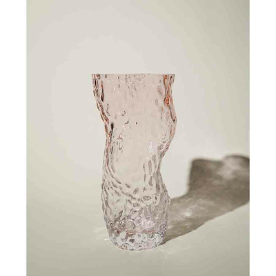 OSTREA ROCK GLASS VASE / pale pink