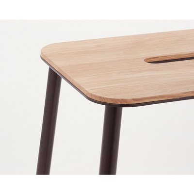 ADAM Stool 65 / Oak & Black